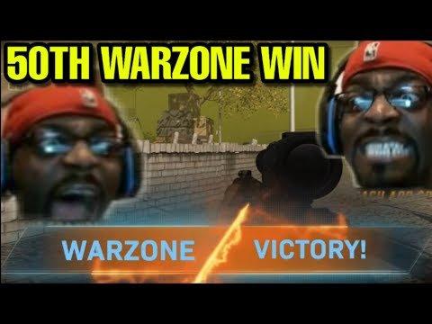 FINALLY WON MY 50TH WARZONE WIN!! OMG THIS WAS STRESSFULL!! CALL OF DUTY MODERN WARFARE